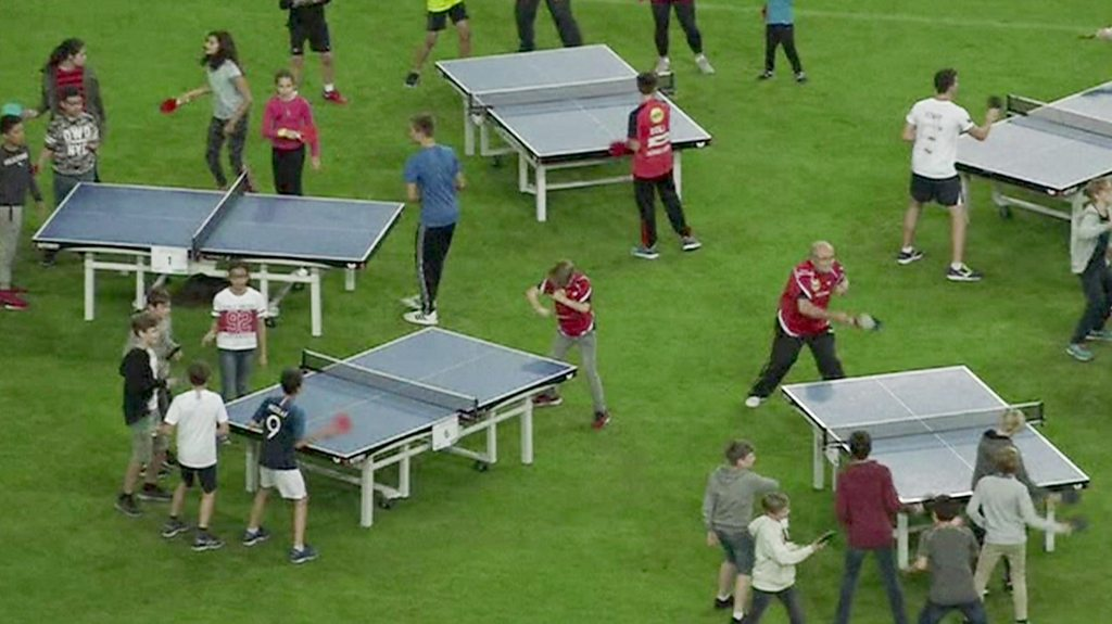 Table Tennis Kids In Germany Set New World Record Cbbc