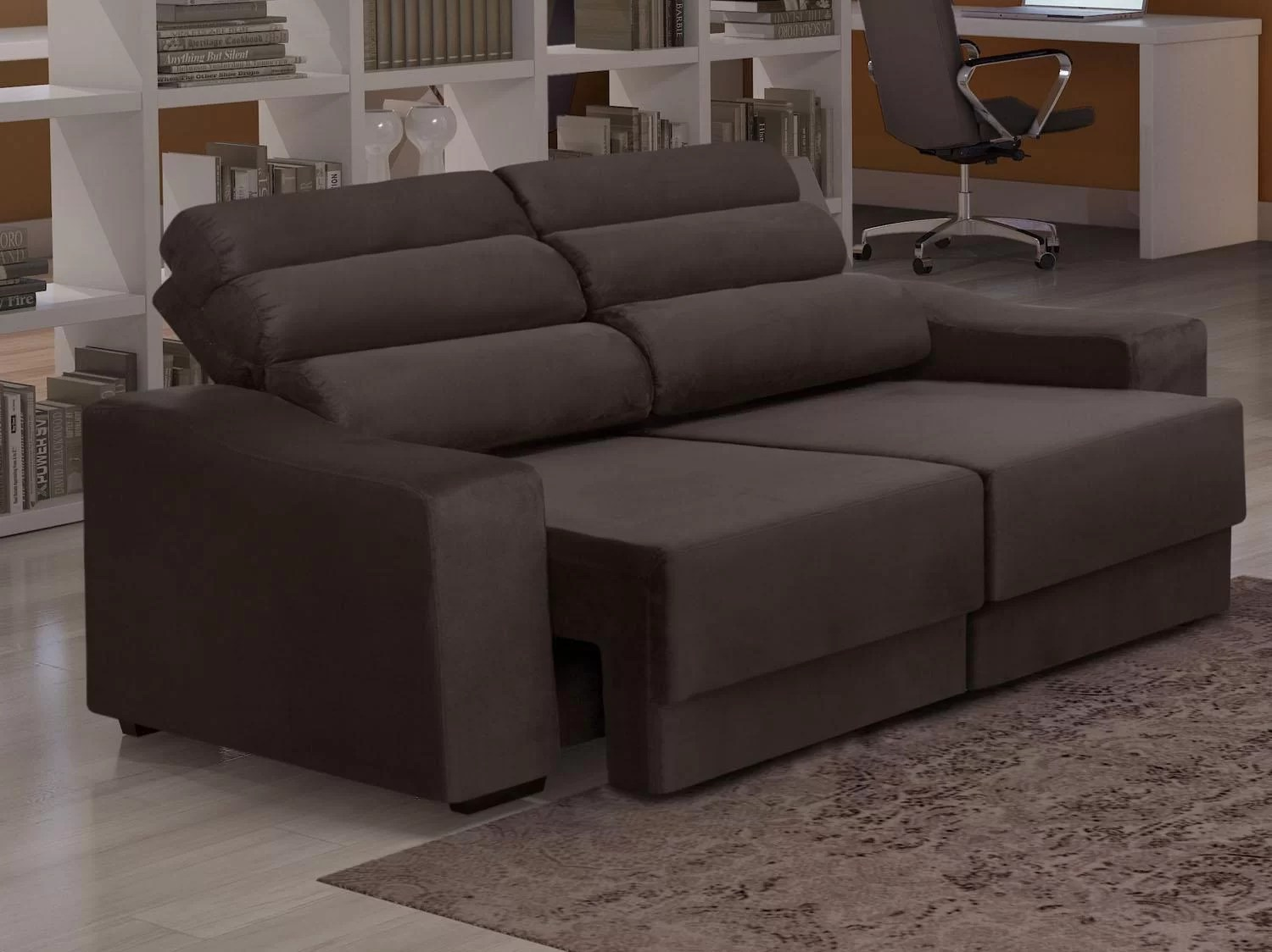 Sofa Retratil E Reclinavel Impermeavel Sofá Retrátil E Reclinável 3 Lugares Sportage Somopar