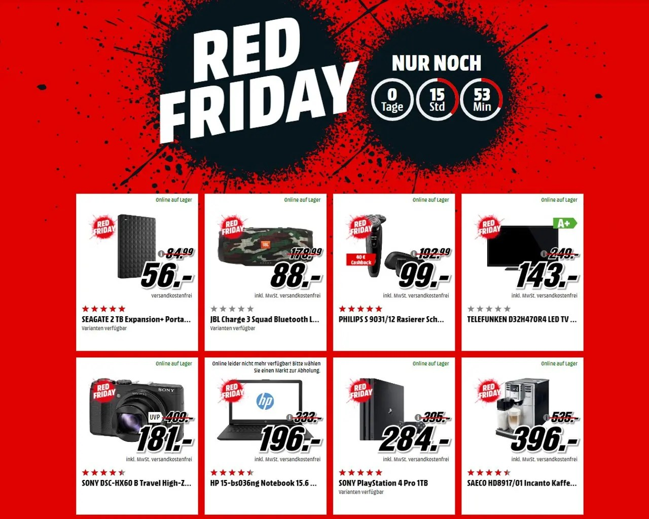 Black Friday 2017 De Black Friday 2017 Onlineshops Locken Wieder Mit Hohen