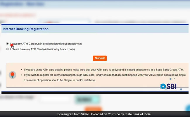 SBI Online How To Activate New SBI ATM Card, Register Online Using