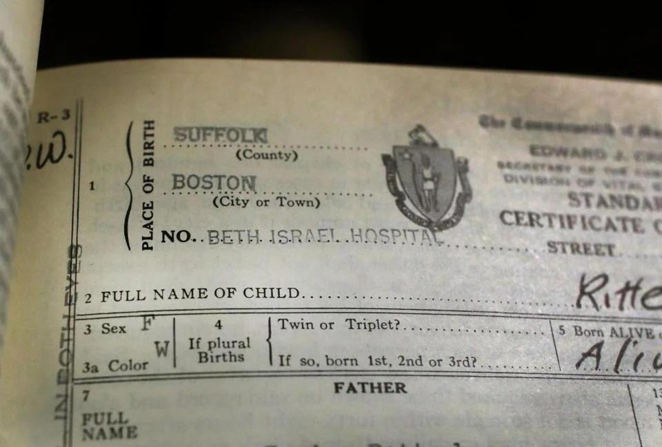 Living life with no first name - The Boston Globe - birth certificate
