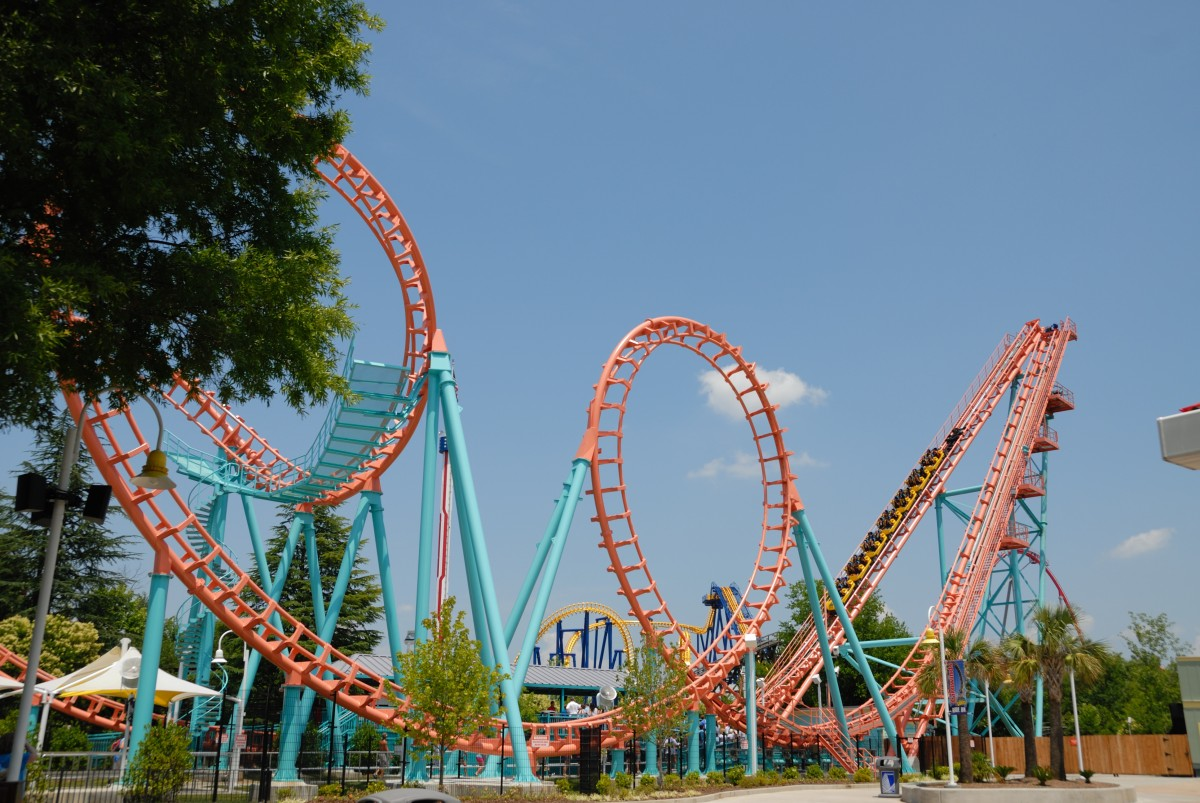 Large Coasters Free Images Vacation Amusement Park Leisure Resort