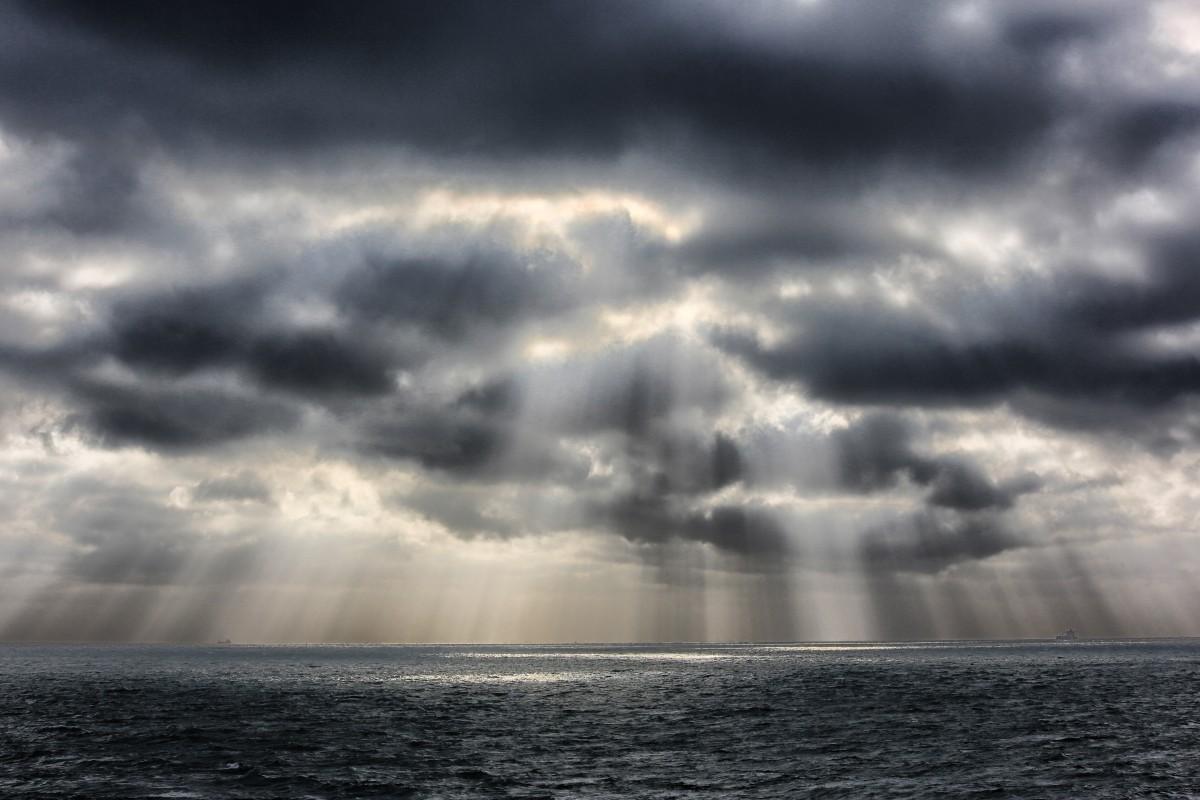 Dark Clouds Hd Wallpaper Free Images Sea Coast Nature Ocean Horizon Cloud