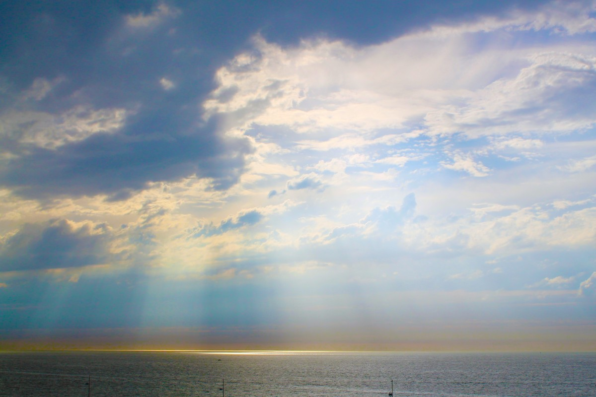 Hd Wallpaper Sea Beach Free Images Landscape Coast Ocean Horizon Light Sky