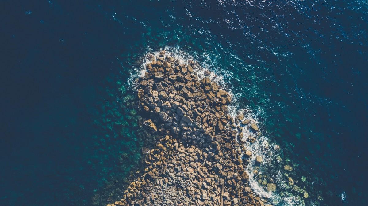 Earth Desktop Wallpaper Hd Free Images Sea Ocean Inlet Bay Aerial View Reef