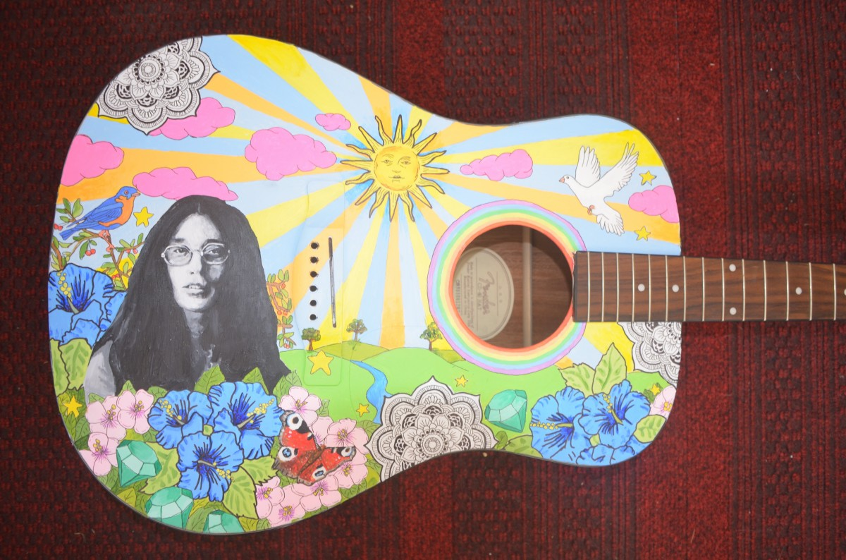 Psychedelic Wallpaper Hd Free Images Rock Music Play Acoustic Guitar Pattern