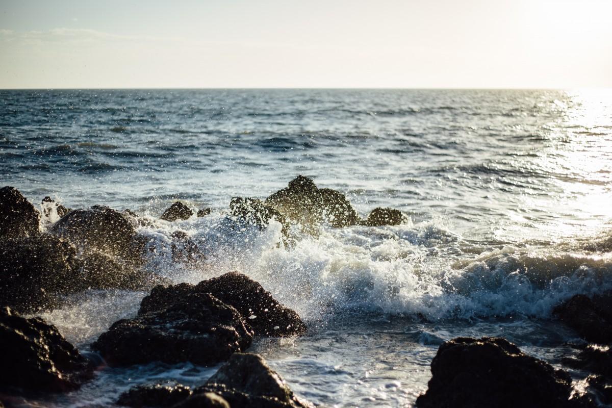 Free Landscape Wallpaper Hd Free Images Sea Ocean Horizon Waves Aqua Cape Salt