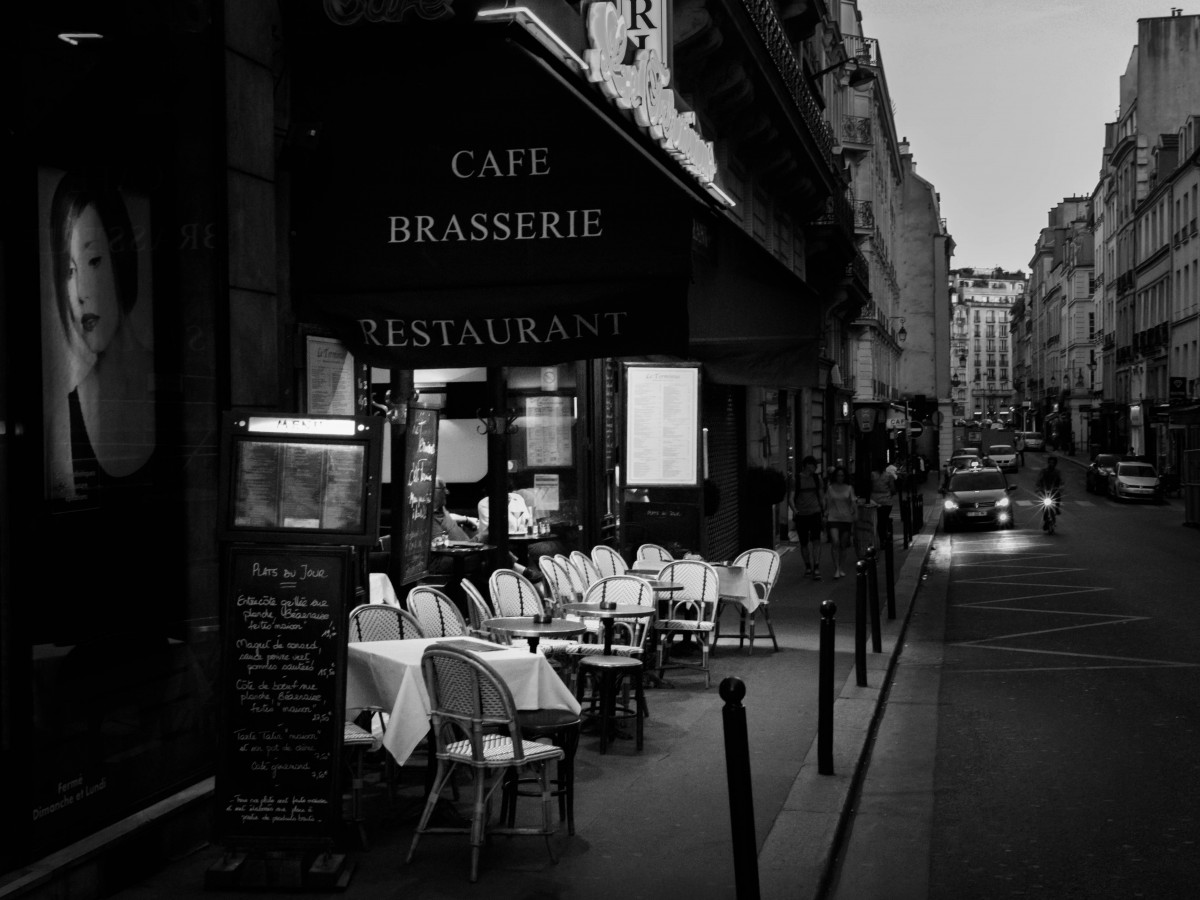 1920x1080 Fall Urban Wallpaper Free Images Table Cafe Black And White Road Street