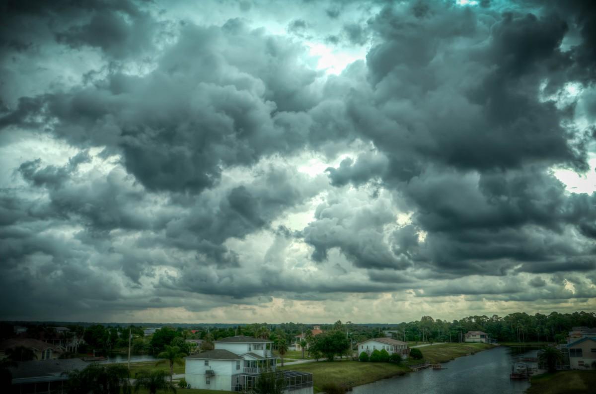 Gloomy Fall Wallpaper Free Images Cloud Sky Cloudy Rain Fall Wind