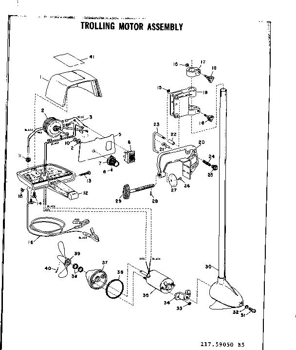 sears trolling motor wiring diagram