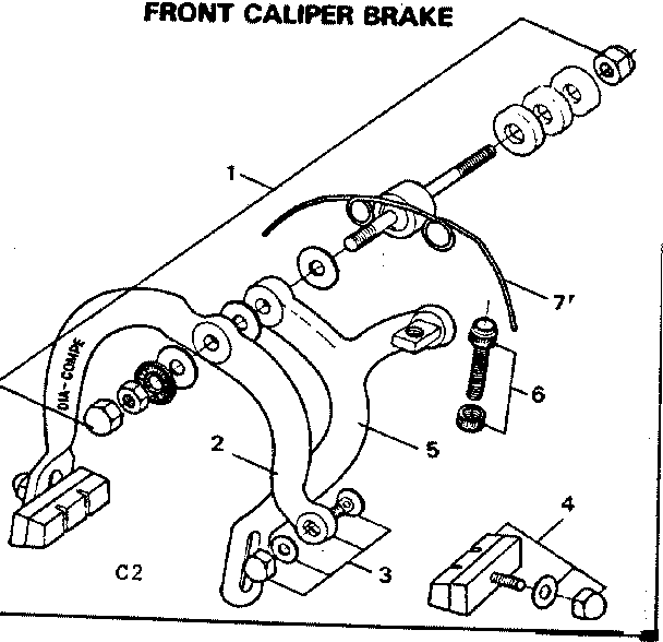 brake diagram parts list for model 502459971 searsparts bicycle