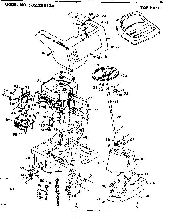 craftsman lt2000 engine diagram