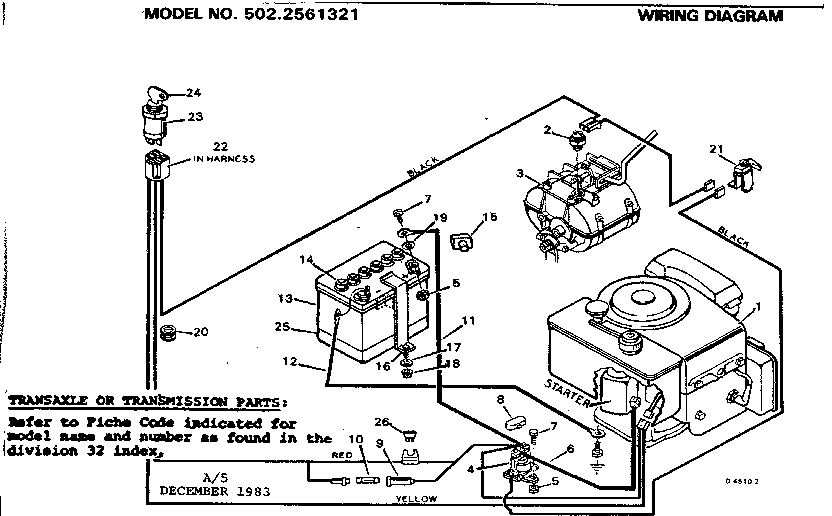 model wiring craftsman diagram tractor 917272674