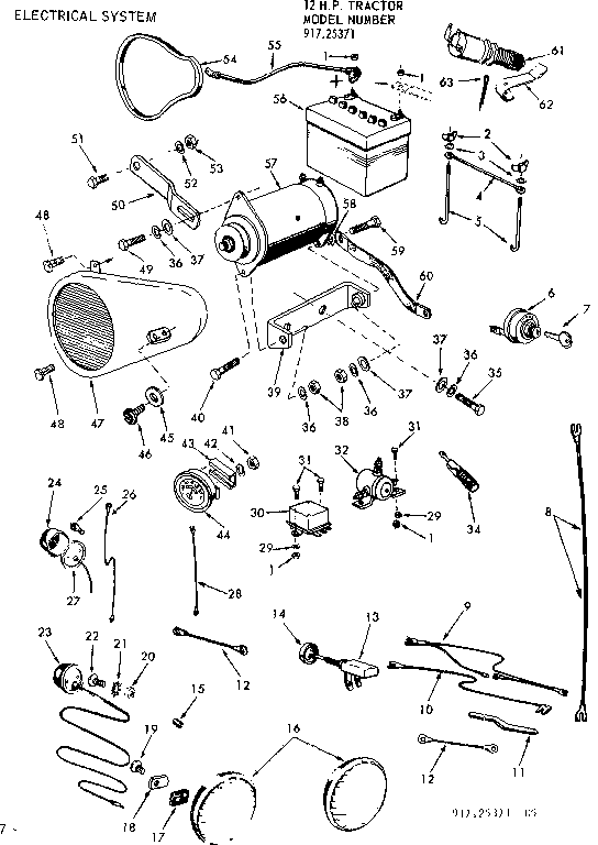 sears tractor wiring diagram