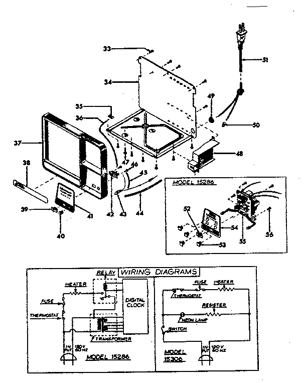 diagram and parts list for sunbeam coffeemakerparts model 15306