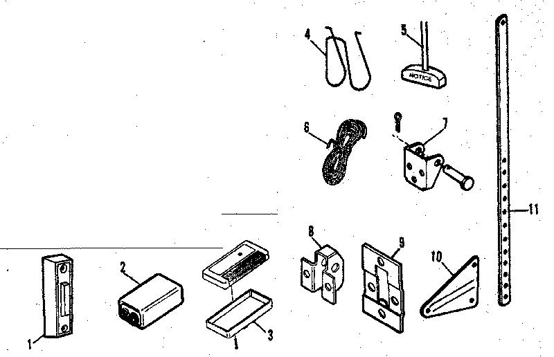 craftsman sears electronic garage door opener installation parts