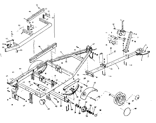 typical utility trailer wiring diagram