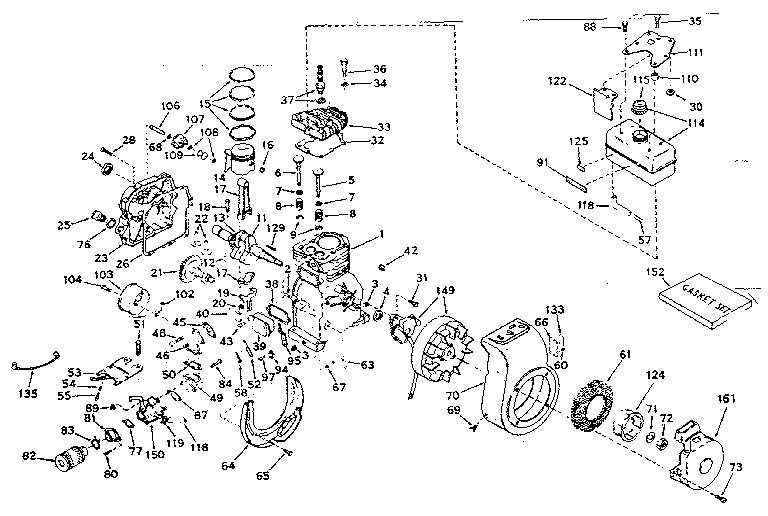 basic engine diagram parts list for model hs5067143b tecumsehparts