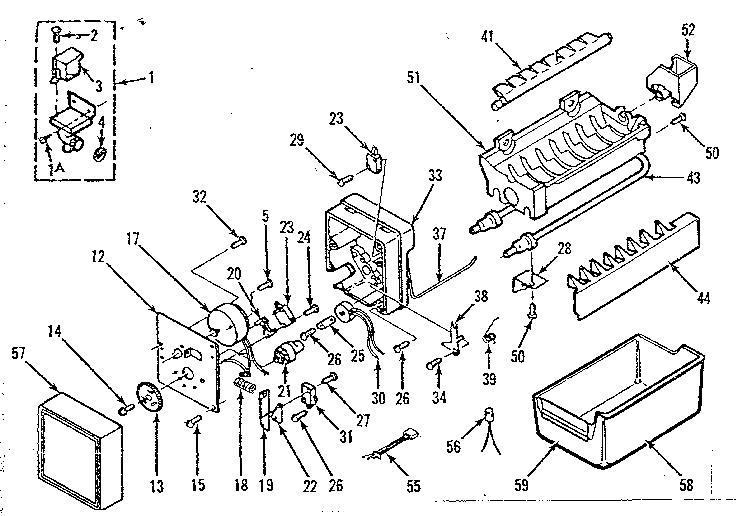 kenmore ice machine diagram