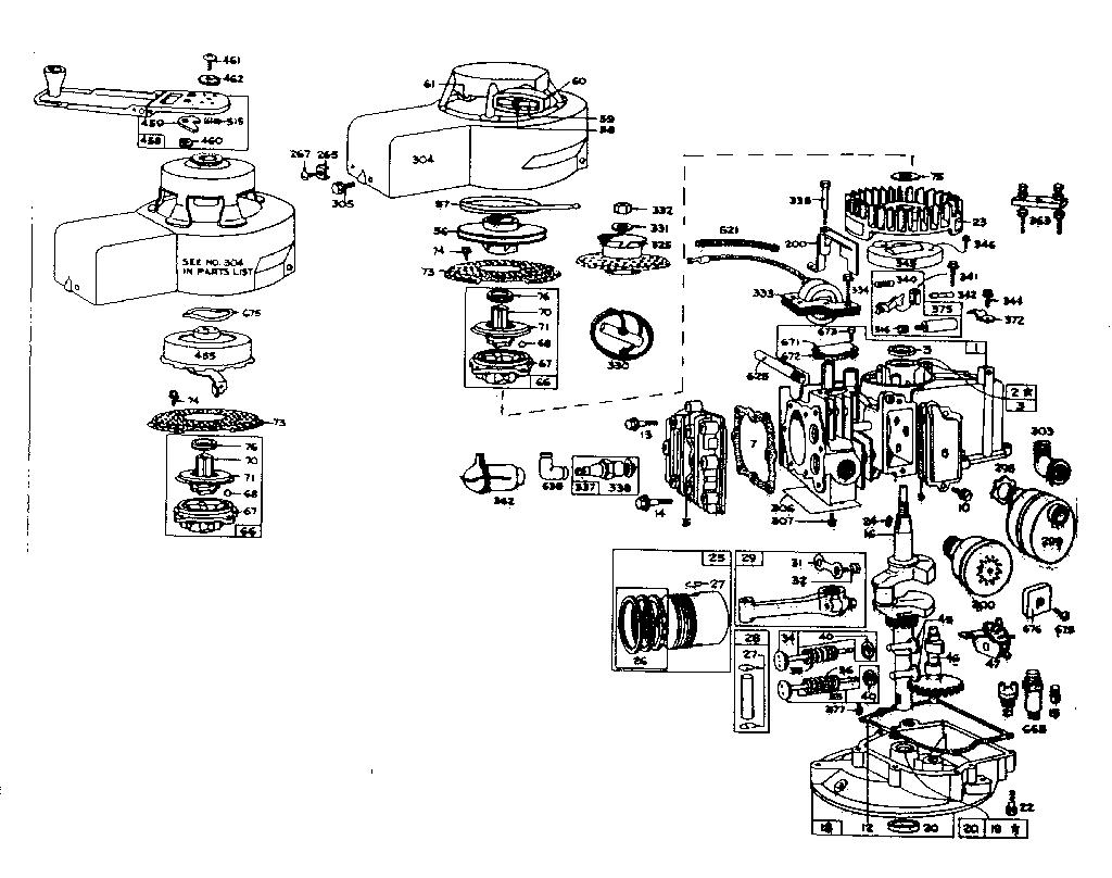 diagram for model 82900 to 82997 0010 0045 briggsstrattonparts