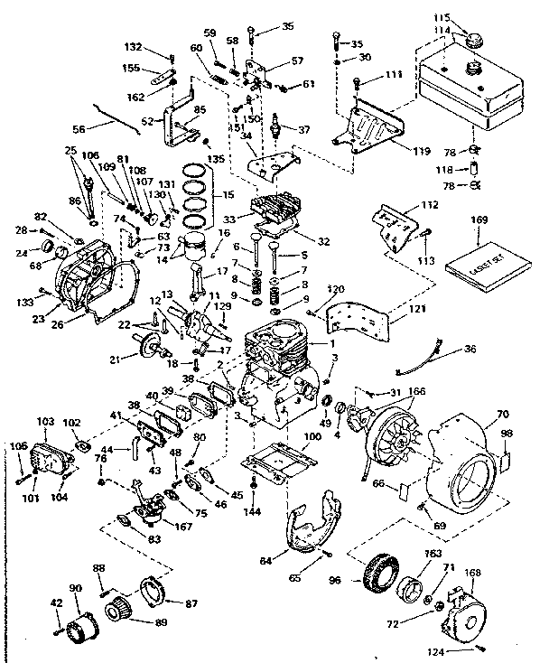 tecumseh ohv engine diagram exploded
