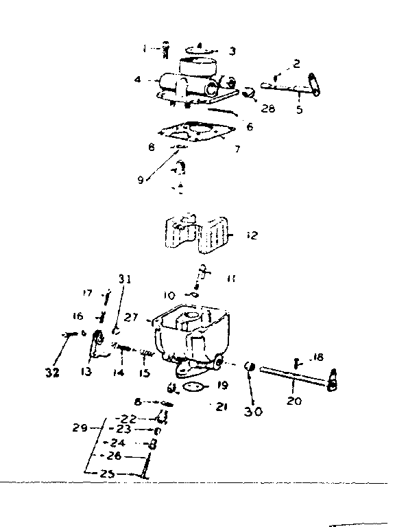 carburetor parts group diagram parts list for model bfms2666c onan