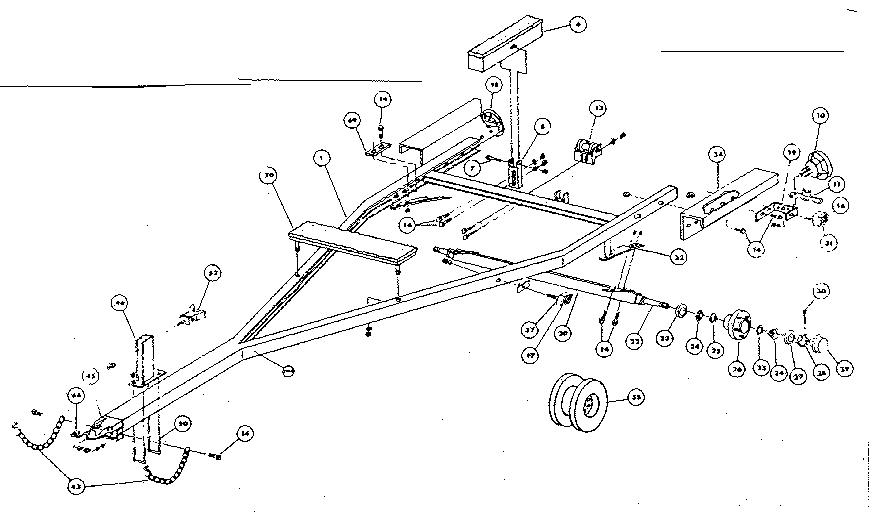 folding boat trailer diagram