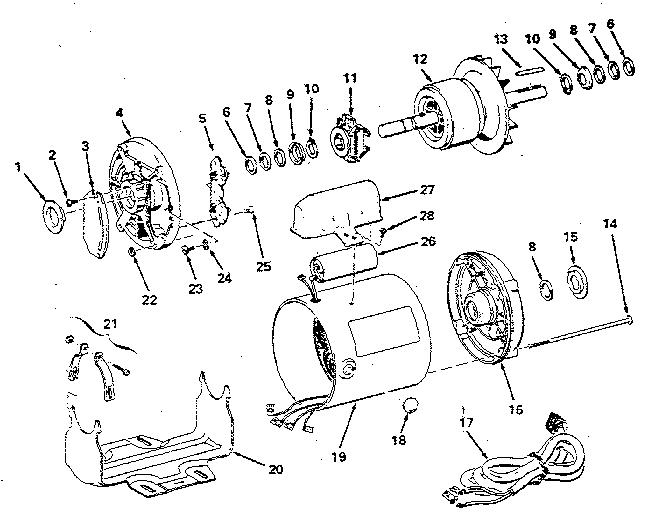 craftsman 1 hp electric motor wiring diagram