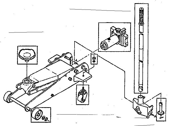 ton hydraulic floor jack parts diagram