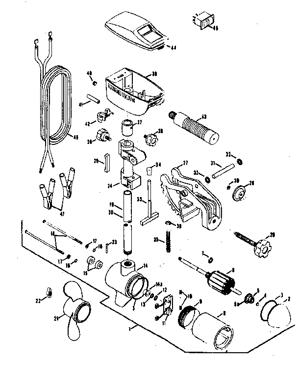 motor assembly diagram and parts list for minn kota boatmotorparts