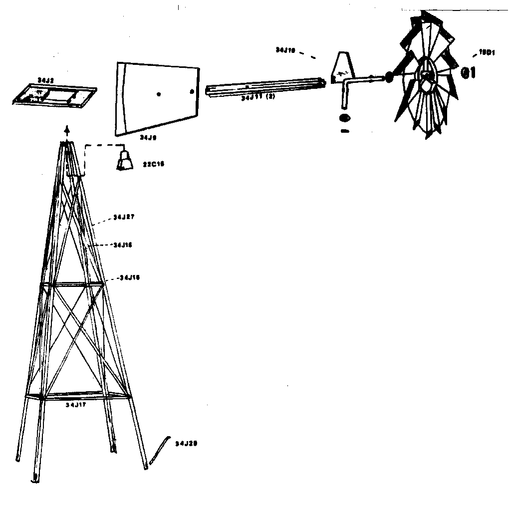 windmill diagram parts picture