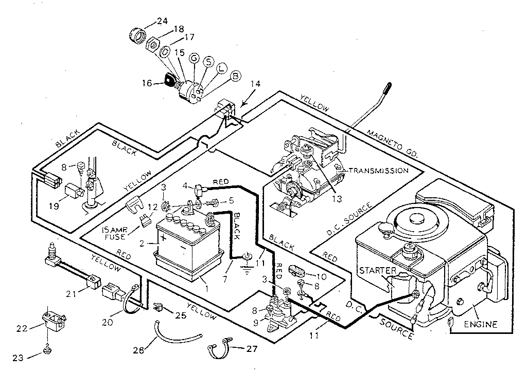 wiring diagram craftsman t1000 lawn tractor