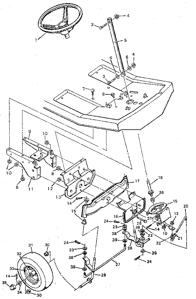 murray riding mower engine diagram