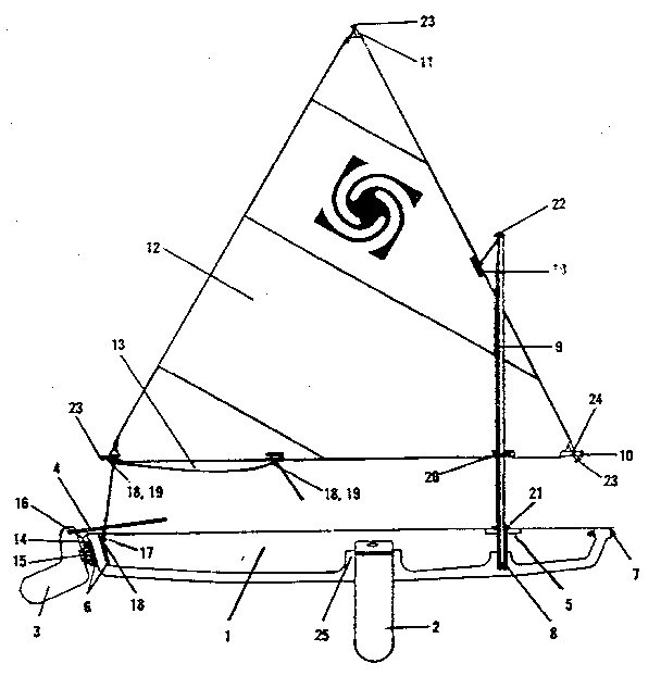 sailboat hardware diagram