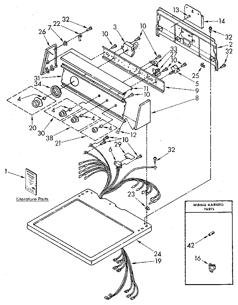 sears kenmore dryer diagram
