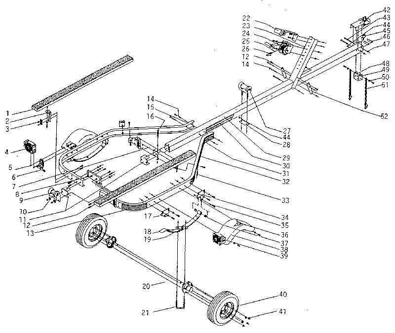 600 lb boat trailer diagram and parts list for sears boataccessory