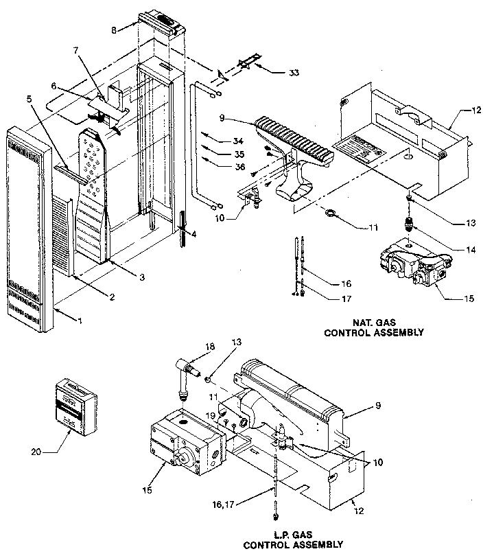 wall heater wiring schematics