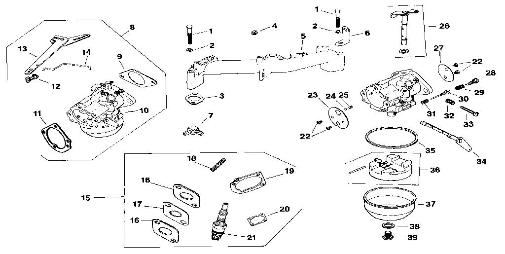 carburetor diagram parts list for model mv18ps58560 kohlerparts all