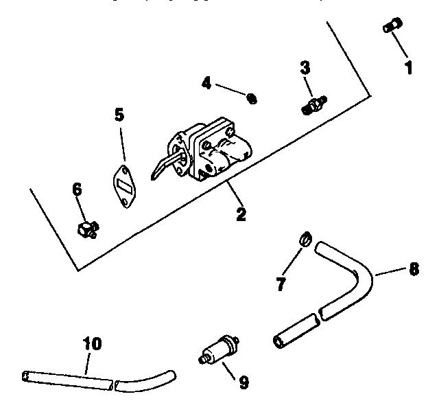 fuel pump diagram and parts list for craftsman boatmotorparts model