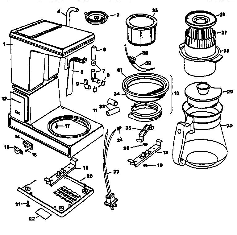 black and decker coffee maker schematic further kitchenaid coffee
