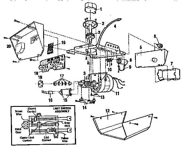 sears garage door opener schematic diagram