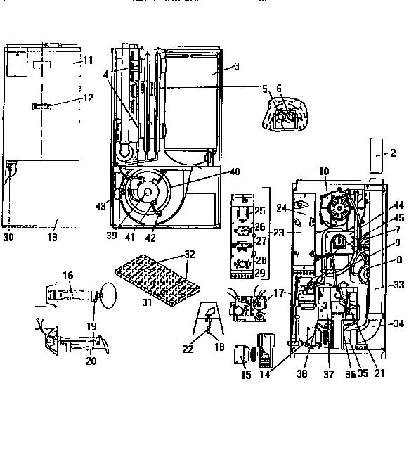 Coleman Evcon Ind Dgu Series Furnace Parts Model