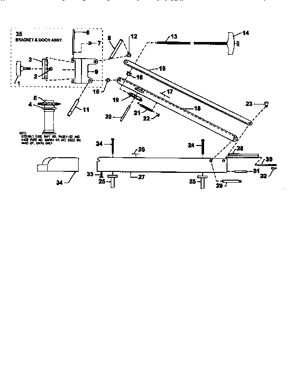 motor mount l43rf diagram and parts list for motorguide boatmotor