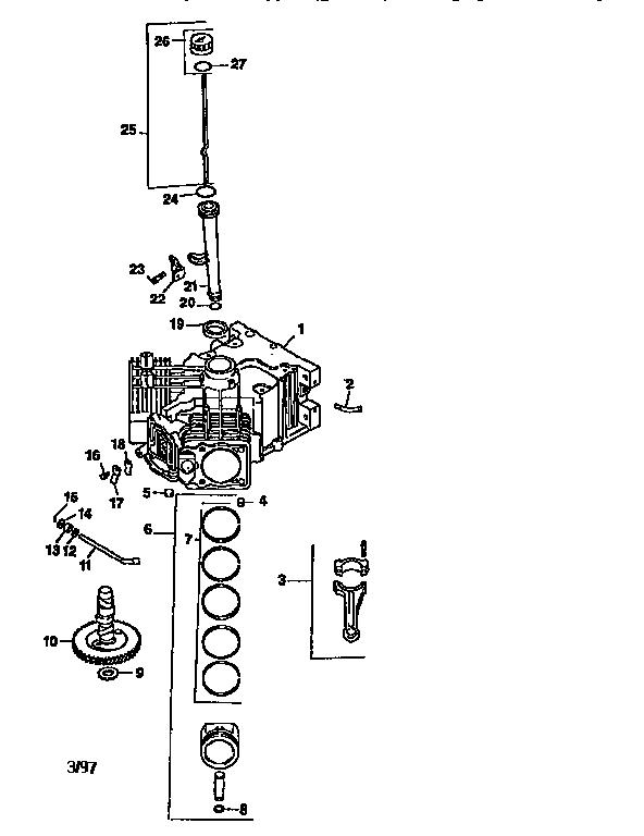 kohler engine model number location