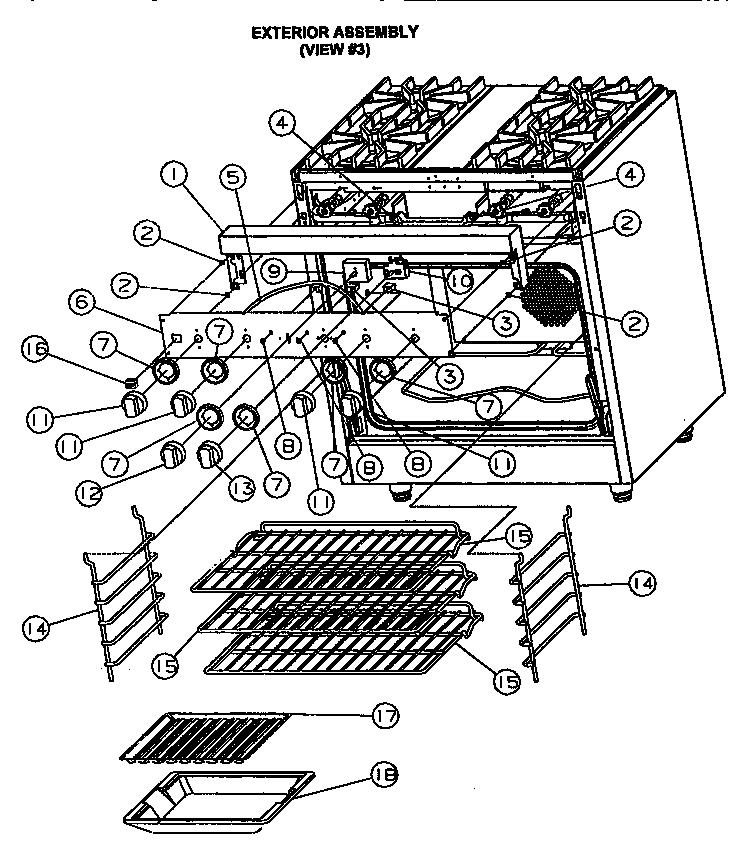 viking range parts diagram