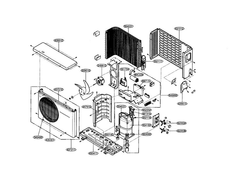 lg air conditioner spare parts list