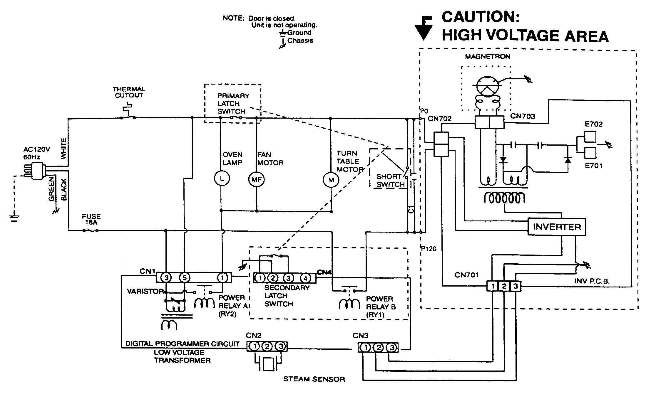 microwave electrical schematic