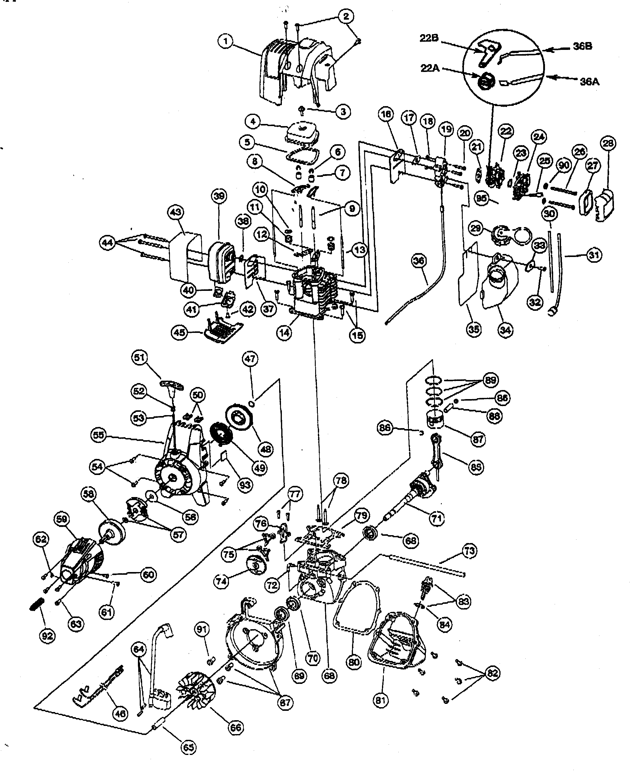 Ryobi Engine Diagram Auto Electrical Wiring Ss30 Parts List And Ry30040 Ereplacementpartscom U0026 For Model 875