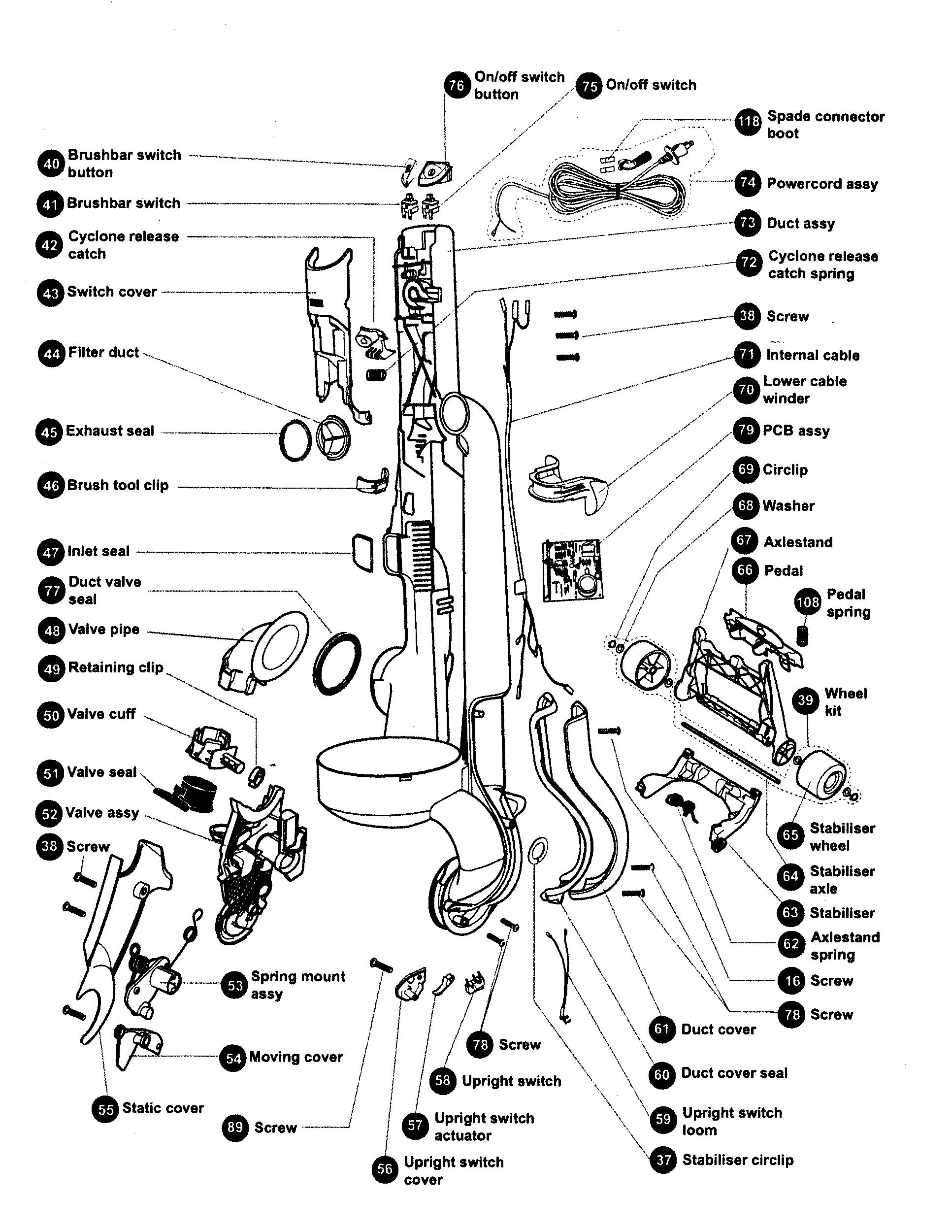dyson vacuum cleaner wiring diagram