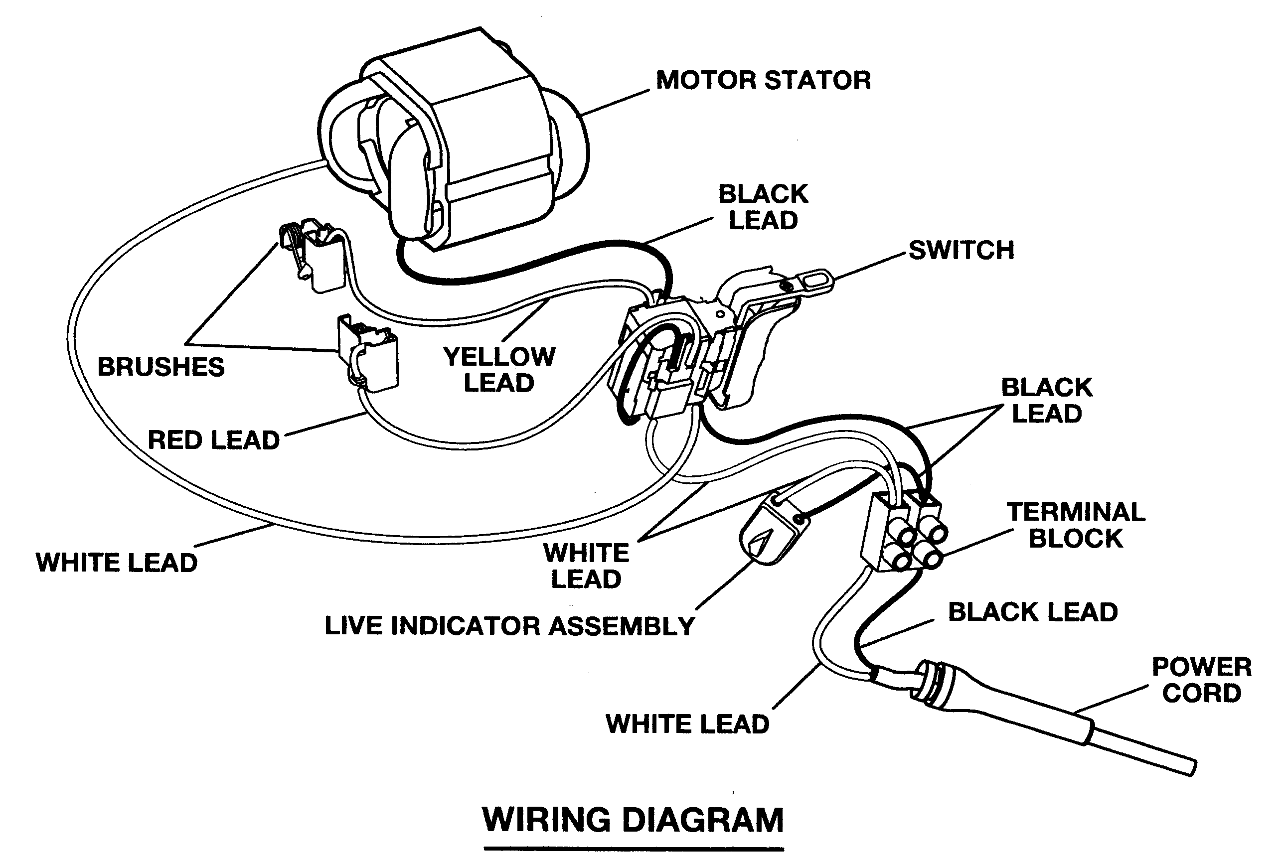 electric drill wiring schematic